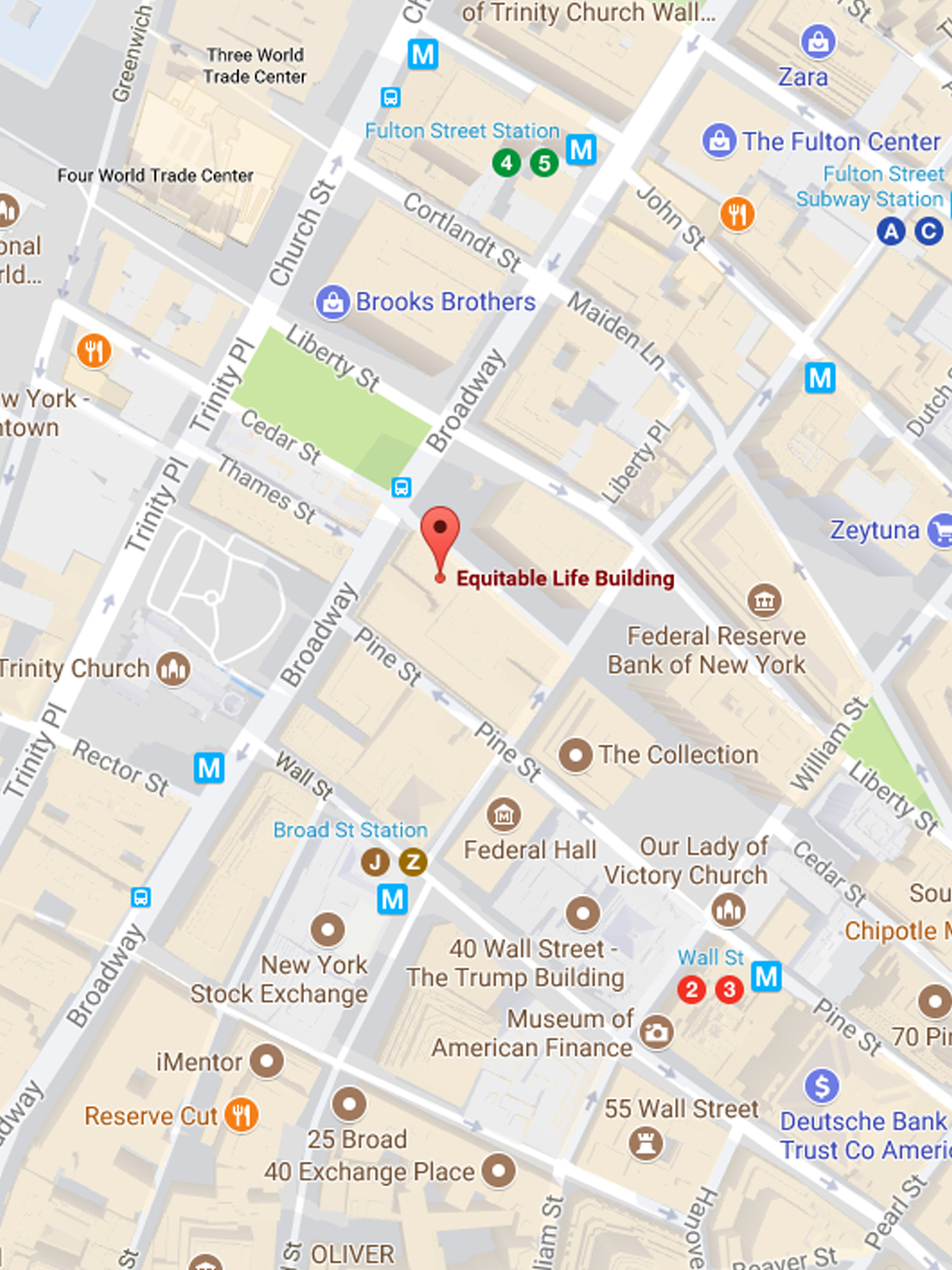 Psi location map trinity for 120 broadway 5th floor new york ny 10271